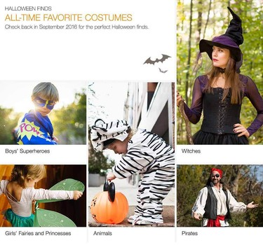 Ebay has the most popular costumes for everyone especially kids