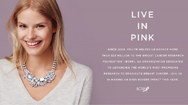 Ann Taylor and Loft both support Breast Cancer Awareness
