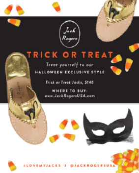 Jack Rogers exclusive Halloween sandal to trick or treat in fashion style