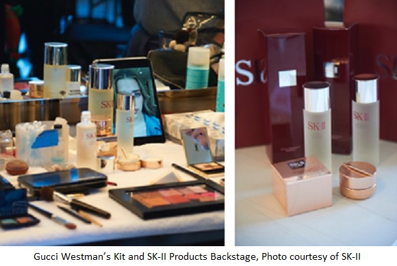 SK-II and Gucci Westman at New York Fashion Week