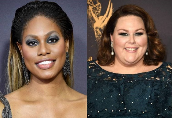 Laverne Cox and Chrissy Metz Emmy Winning Beauty Looks Are Stunning